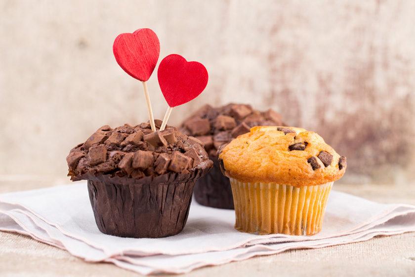 Muffins mit Herz